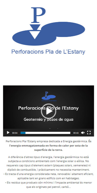 10 perforacions pla estany